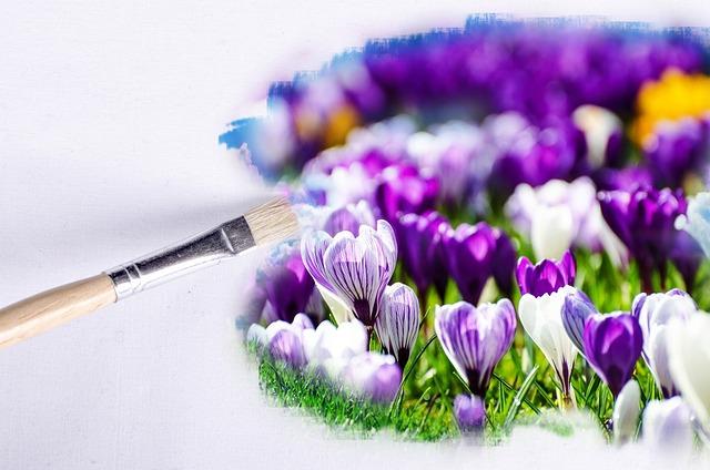 Paintbrush, Flower, Flowers, Wallpaper, Floral, Yellow