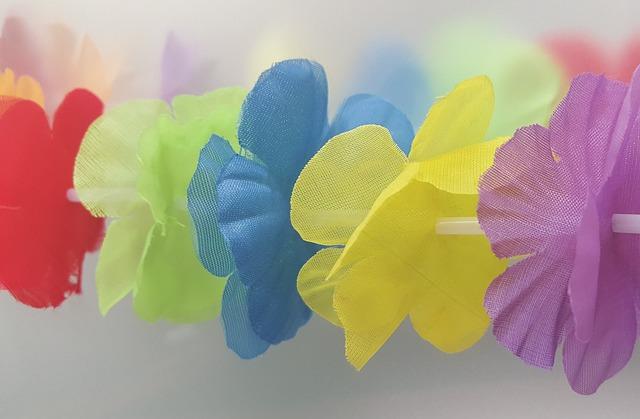 Lei Flowers, Flowers, Garland, Flower Chain, Luau