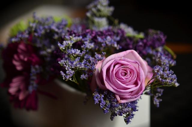 Rose, Pink, Floral Arrangement, Bouquet, Flowers, Faded