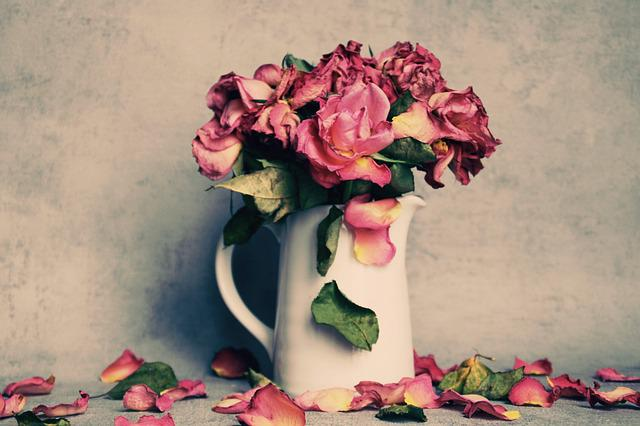 Roses, Bouquet, Faded, Flowers, Rose Bloom, Flower, Dry