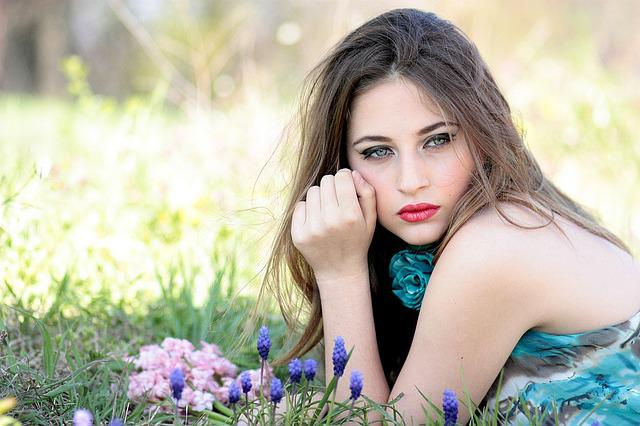 Girl, Flowers, Nature, Beauty, Spring