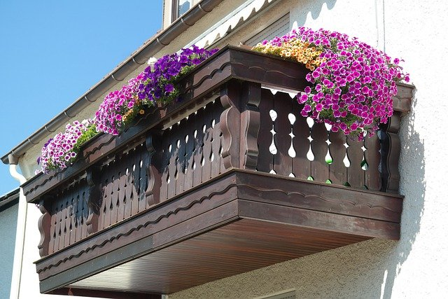Balcony, Decorated, Flowers, Summer Flowers, Summer Day