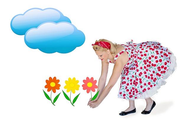 Summer, Summery, Flowers, Picking Flowers