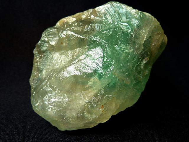 Fluorite, Fluorspar, Glass Gloss, Green, White, Yellow