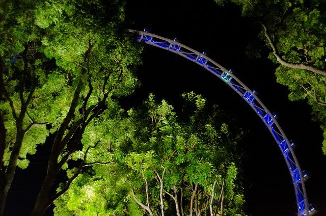 Singapore, Flyers, Night, Illuminated, Formula 1, F1