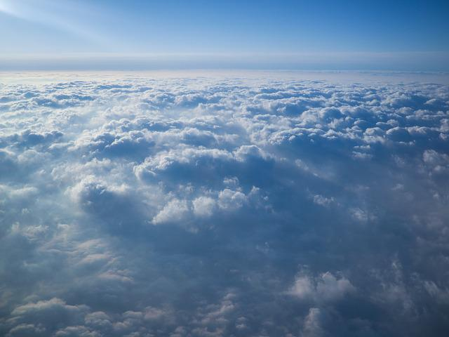 Sky, Blue, Cloud, Plane, Flying, Horizon, Vacation