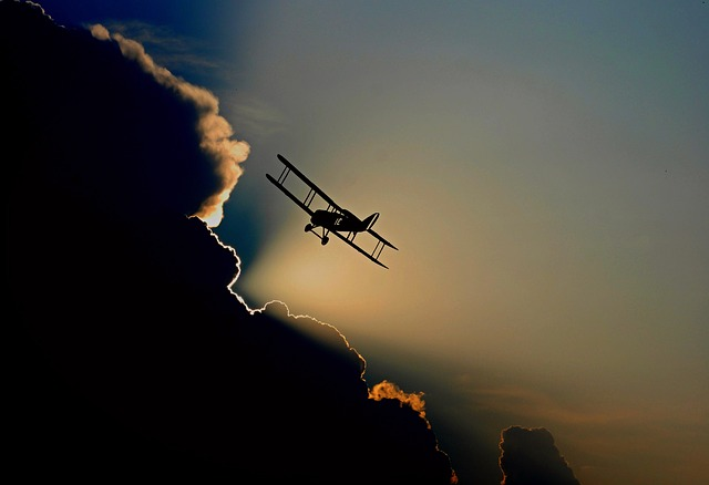 Aircraft, Double Decker, Propeller Plane, Flying