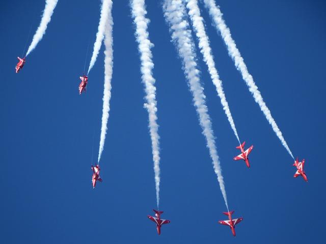 Red Arrows, Airshow, Air Display, Hawks, Flying, Raf