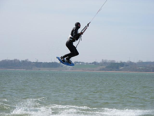 Helium, Peninsula, Hel, Kite, Kite Surfer, Flying