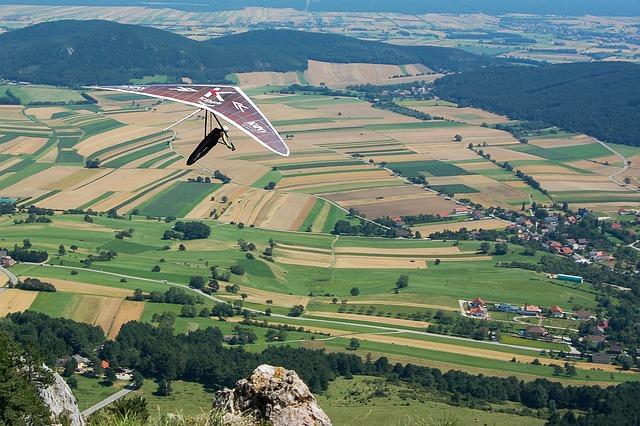 Hang Glider, Sport, Landscape, Flying, Mountain, Nature