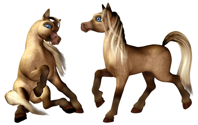 Pony, Horse, Colt, Filly, Foal, Cartoon, Toon, Isolated
