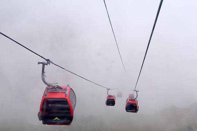 Cable Car, Gondola, Alps, Alpine, Fog, Nowhere