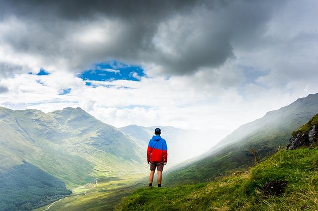 Adventure, Climb, Clouds, Daylight, Fog, Grass, High