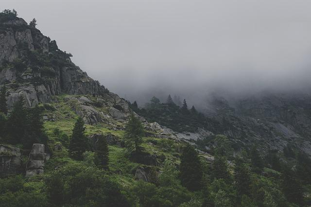 Mountains, Fog, Gloomy, Landscape, Clouds, Pass, Alpine