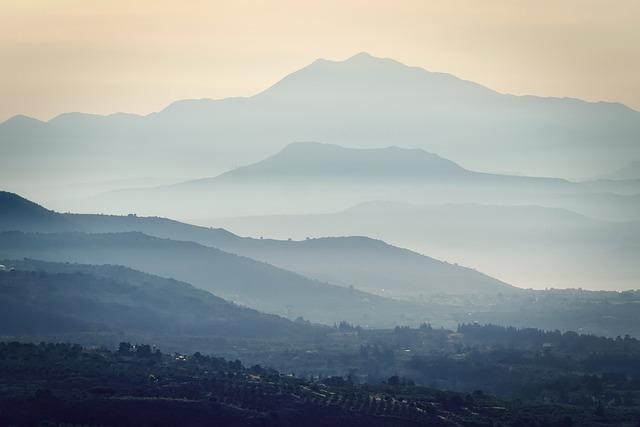 Crete, Fog, Mountains, Landscape, Mystical, Sunrise