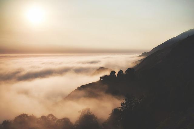 Dawn, Dusk, Fog, Landscape, Mountain, Nature, Outdoors