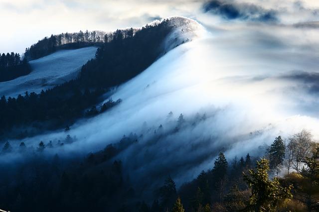 Wave Of Fog, Fog, Nebellandschaft, Belchenflue