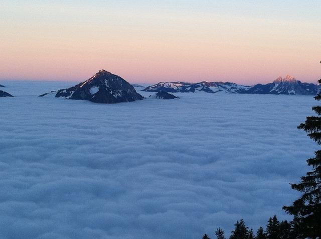 Nidwalden, Mountains, Panorama, Fog