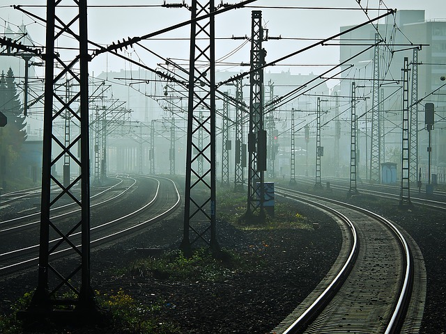 Railway, Tracks, Fog, Rails, Railroad Tracks