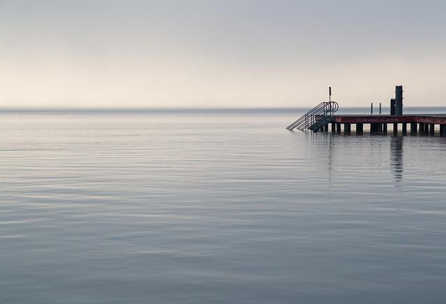Klagenfurt, Wörthersee, Strandbad, Water, Web, Fog