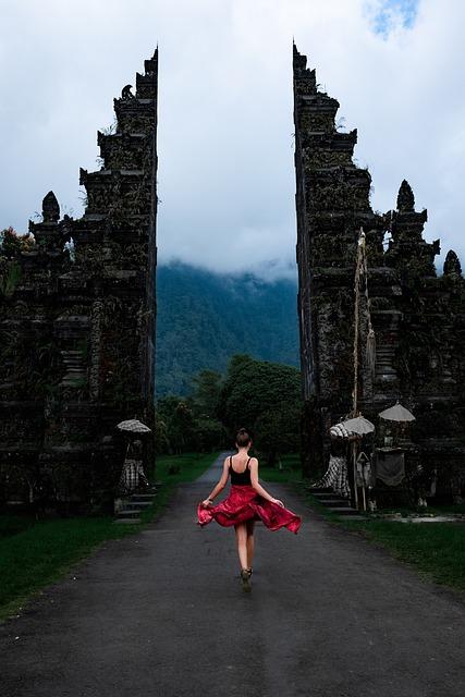Girl, Gate, Woman, Nature, Fog, Mist, Freedom, Dress