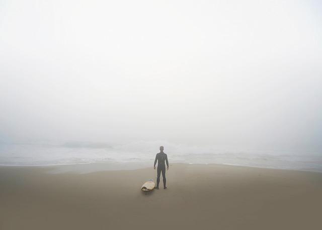 Sea, Ocean, Water, Waves, Nature, Beach, Foggy, Shore