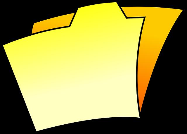 Cartoon, Dossier, File, Folder, Icon