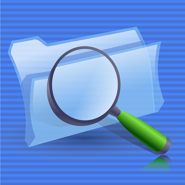 Folders, Glass, Zoom, Lens, Search, Find, Folder