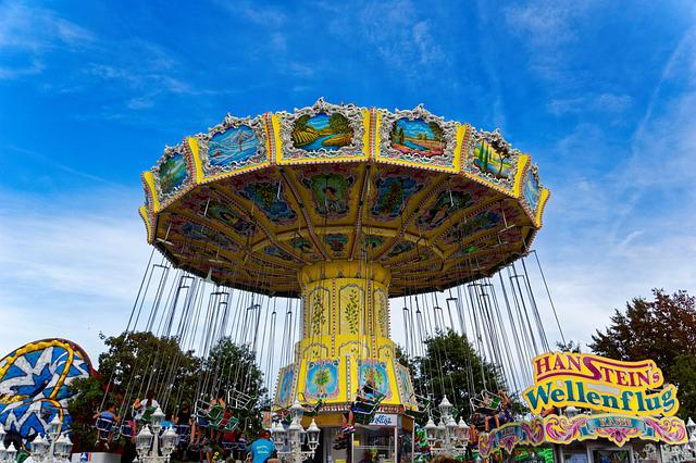 Fair, Folk Festival, Rides, Year Market, Colorful
