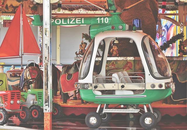 Carousel, Helicopter, Folk Festival, Year Market