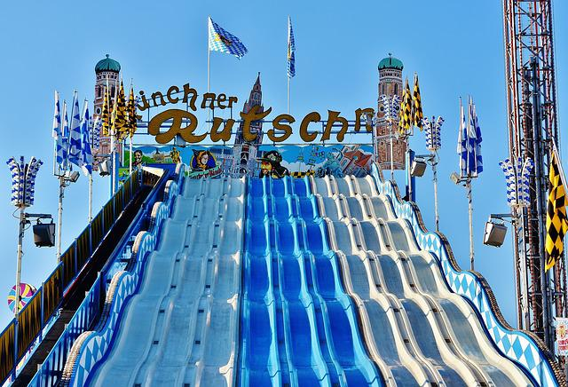 Oktoberfest, Munich Slide, Ride, Carnies, Folk Festival