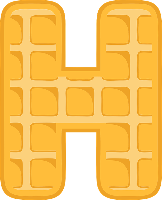 H, Alphabet, Waffle, Letter, Typography, Text, Font