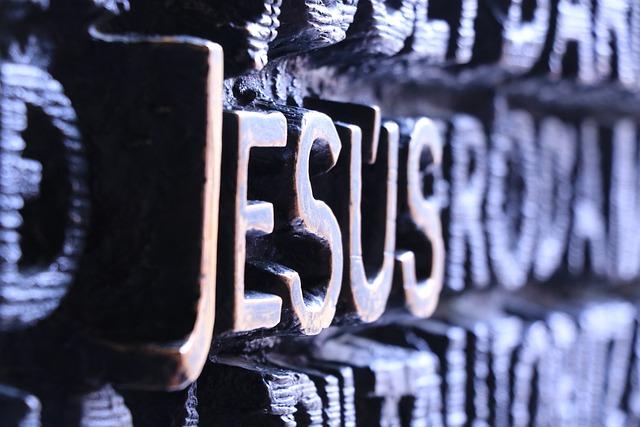 Jesus, Font, Letters, Word, Faith, Religion, Church