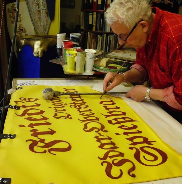 Script Painter, Font Painting, Time Stock