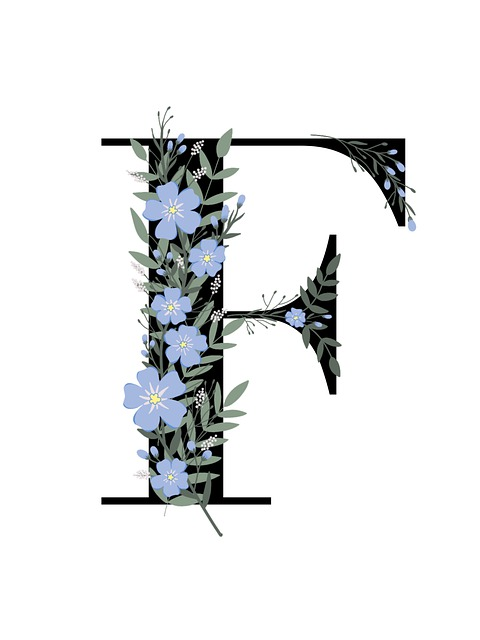 F, Floral, Scrapbooking, Scrapbook, Letter, Font