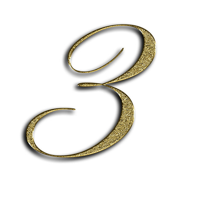Number, 3, Gold, Font, Training, Three, Learn, Golden