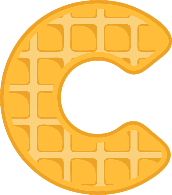 C, Alphabet, Waffle, Letter, Typography, Text, Font