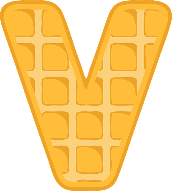 V, Alphabet, Waffle, Letter, Typography, Text, Font
