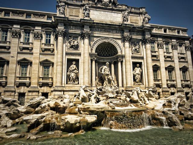 Trevi Fountain, Fontana Di Trevi, Rome, Italy, Fountain