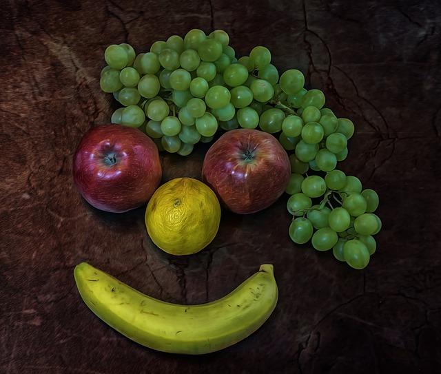 Clown, Fruit, Food, Grapes, Apple, Lemon, Banana, Grow