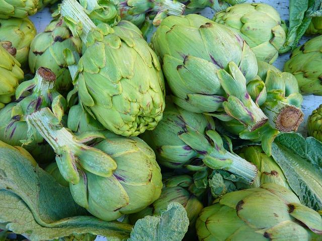 Artichokes, Vegetables, Green, Market, Food