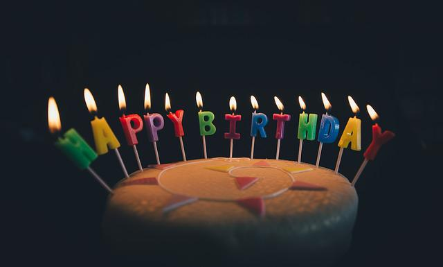 Birthday, Birthday Cake, Cake, Candles, Flame, Food