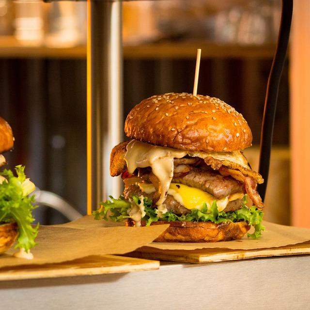 Burger, Food, Bun, Hamburger, Fast, Meal, Snack, Meat