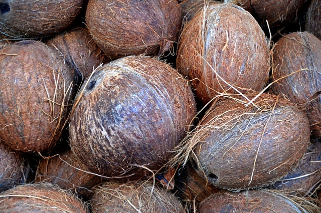 Coconut, Nuts, Market, Brown, Nutrition, Exotic, Food
