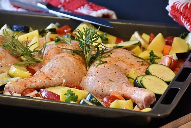 Chicken, Raw, Oven, Food, Eat, Fresh, Cook, Garlic