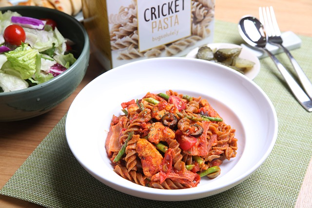 Cricket, Cricket Pasta, Edible Insects, Food