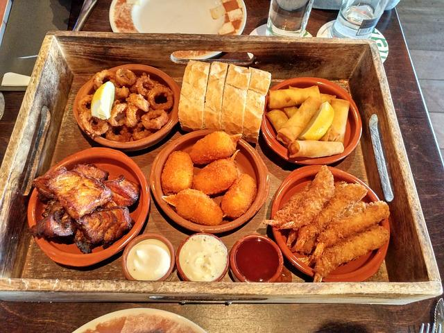 Food, Dish, Mix, Fish, Restaurant, Volendam, Holland