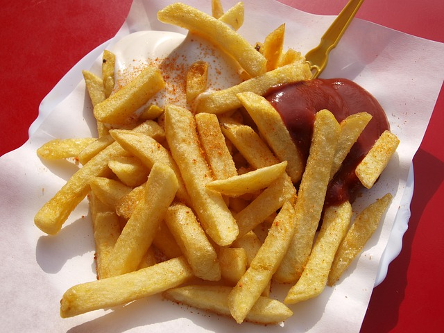 Fast Food, Food, French Fries, Fries, Ketchup