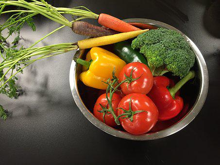 Vegetables, Yellow, Orange, Food, Green, Red, Fresh