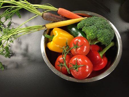 Vegetables, Yellow, Orange, Food, Green, Red, Fresh